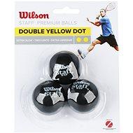 Wilson Staff Squash 3 Ball Double Yellow Dot - Squashová lopta