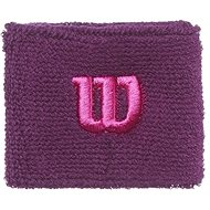 Wilson W Wristband Dark purple - Potítko