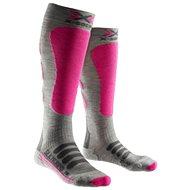 X-SOCKS – X-SOCKS SKI SILK-MERINO SOCKS LADY White/Grey/Beige - Dámske lyžiarske ponožky