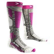 X-SOCKS – SKI RIDER 2.0 LADY Grey Melange Violet - Dámske lyžiarske ponožky