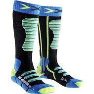 X-SOCKS SKI JUNIOR Turquoise Yellow - Detské lyžiarske ponožky