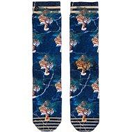 XPOOOS Tiger Blue, veľkosť UNI - Ponožky