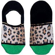 XPOOOS Leopard Black, veľkosť UNI - Ponožky