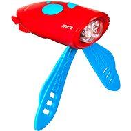 Mini Hornit Zábavná húkačka so svetlom červená - Zvonček na bicykel