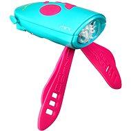 Mini Hornit Zábavná húkačka so svetlom tyrkysová - Zvonček na bicykel