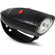 Zvonček na bicykel Mini Hornit Nano Zábavná húkačka so svetlom čierna