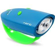 Zvonček na bicykel Mini Hornit Nano Zábavná húkačka so svetlom modrá