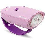 Zvonček na bicykel Mini Hornit Nano Zábavná húkačka so svetlom ružová