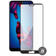 Screenshield HUAWEI P20 Tempered Glass Protection (full COVER black) na displej - Ochranné sklo