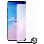 Screenshield SAMSUNG Galaxy S10+ (black – CASE FRIENDLY) - Ochranné sklo