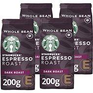 Starbucks Espresso Roast, zrnková káva, 200g 4x