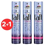 SCHWARZKOPF TAFT 7 Days Anti - Frizz Daily Finish Hairspray 3× 250 ml - Lak na vlasy