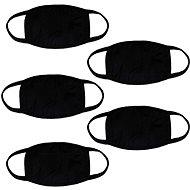 STX bavlnené rúška bez potlače – čierne (5 ks) - Rúško