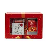Vianočný balík GLADE Discreet Electric Jelly / škorica + sviečka Apple / škorica 120 g 1 + 8g / 12