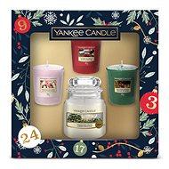 YANKEE CANDLE Vianočná darčeková súprava, 3× 49 g, 1× 104 g - Darčeková sada