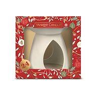 YANKEE CANDLE Vianočná darčeková súprava, arómolampa, 4× vonný vosk, 1× čajová sviečka - Darčeková sada