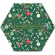 YANKEE CANDLE Vianočná darčeková súprava, 18× čajová sviečka a svietnik - Darčeková sada