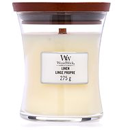 WOODWICK Linen Medium Candle 275 g - Sviečka