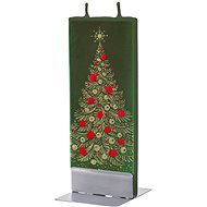 FLATYZ Gold Christmas Tree On Green 80g - Candle