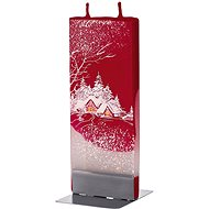 FLATYZ Winter Cottage on Red 80g - Candle