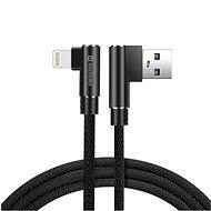 Swissten Arcade textilný dátový kábel USB/Lightning 1,2 m čierny