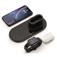 Swissten Wireless 3 v 1 čierna - Bezdrôtová nabíjačka
