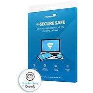 F-Secure SAFE DR pre 3 zariadenia na 1 rok + Data Recovery pre 1 zariadenie na 1 rok BOX - Antivírusový softvér