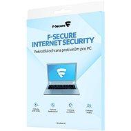 F-Secure INTERNET SECURITY pre 3 zariadenia na 1 rok (elektronická licencia) - Antivírus