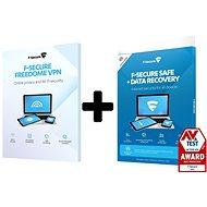 F-Secure SAFE DR + FREEDOME pre 3 zariadenia 1 rok + Data Recovery pre 1 zariadenie na 1 rok elektro - Antivírus