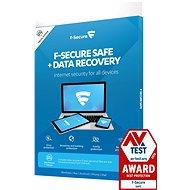 F-Secure SAFE DR pre 3 zariadenia na 1 rok + Data Recovery pre 1 zariadenie na 1 rok (elektronická licencia) - Antivírus