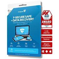 F-Secure SAFE DR pre 5 zariadení na 2 roky + Data Recovery pre 1 zariadenie na 2 roky (elektronická licencia) - Antivírus