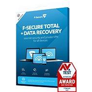F-Secure TOTAL DR pre 3 zariadenia na 1 rok + Data Recovery pre 1 zariadenie na 1 rok (elektronická licencia) - Antivírus