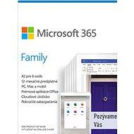 Microsoft 365 Family SK (elektronická licencia) - Kancelársky softvér