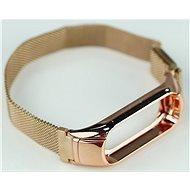 SXT Mi Band 3 kovový náramok (M-lock) ružový - Remienok