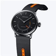 Sequent SuperCharger 2.1 Premium ónyxovo čierne s čiernym/oranžovým remienkom - Smart hodinky