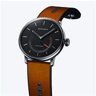 Sequent SuperCharger 2.1 Premium ónyxovo čierne s hnedým koženým remienkom - Smart hodinky