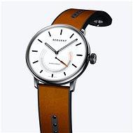 Sequent SuperCharger 2.1 Premium snehovo biele s hnedým koženým remienkom - Smart hodinky