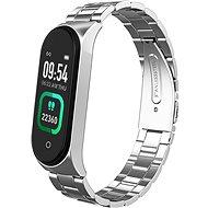 Smartomat Sunset 4 Pro so strieborným kovovým remienkom - Fitness náramok