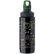 TEFAL DRINK2GO antikorová fľaša 0,6 l čierna-dekor - Fľaša na vodu