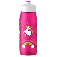 TEFAL SQUEEZE mäkká fľaša 0,6 l ružová – jednorožec