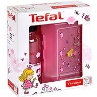 Tefal Sada dóza a fĺaša 0.4 l KIDS ružová – princezná - Sada