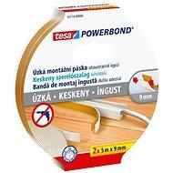 tesa Powerbond Slim - Narrow, Foam, 2pcs in Package, 5m: 9 mm