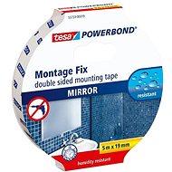 tesa Powerbond Double-Sided Foam Mirror Mounting Tape, white, 5m:19mm