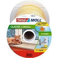 tesamoll® Gumové tesnenie, biele, na okná a dvere, E profil, bubon 100 m - Tesnenie do okien