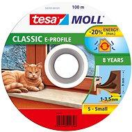 tesamoll® Gumové tesnenie, hnedé, na okná a dvere, E profil, bubon 100 m - Tesnenie do okien