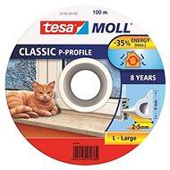 tesamoll® Gumové tesnenie, biele, na okná a dvere, P profil, bubon 100 m - Tesnenie do okien