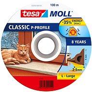 tesamoll® Gumové tesnenie, hnedé, na okná a dvere, P profil, bubon 100 m - Tesnenie do okien
