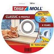 tesamoll® Gumové tesnenie, biele, na okná a dvere, D profil, bubon 100 m - Tesnenie do okien