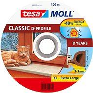 tesamoll® Gumové tesnenie, hnedé, na okná a dvere, D profil, bubon 100 m - Tesnenie do okien