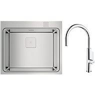 TEKA ZENIT RS15 1B + TEKA PHOTO 995 CR Chrome - Kitchen Sink and Tap Set